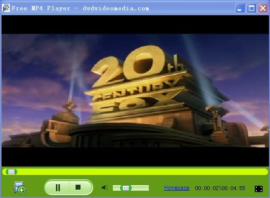 Click to view Free MP4 Player 2.1 screenshot